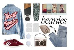 """""""Beanie"""" by inthetimelessness ❤ liked on Polyvore featuring Mix Nouveau, High Heels Suicide, adidas, Halogen and Spektre"""
