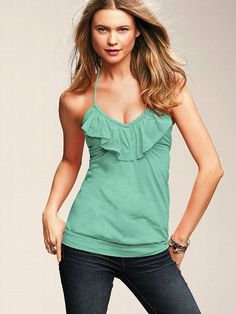 Ruffle Lightly Padded Bra Top #VictoriasSecret http://www.victoriassecret.com/clothing/view-all-tops/ruffle-lightly-padded-bra-top?ProductID=63904=OLS?cm_mmc=pinterest-_-product-_-x-_-x