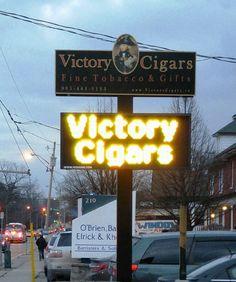 Victory Cigars LED Reader Board Sign