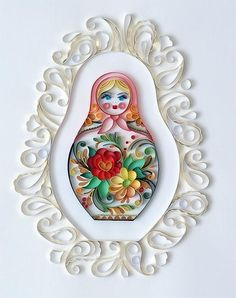 Image uploaded by Niceli Sturm Zetto. Find images and videos about matryoshka, paper art and quilling on We Heart It - the app to get lost in what you love. Quilling Paper Craft, Quilling Cards, Paper Crafts, Quilling Work, Foam Crafts, Paper Toys, Quilling Patterns, Quilling Designs, Baby Dekor