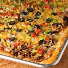 Taco Pizza, so having this tonight for revenge of the 5th( cinco de mayo)