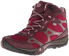 merrell womens azura carex mid waterproof hiking boot wine m us merrell