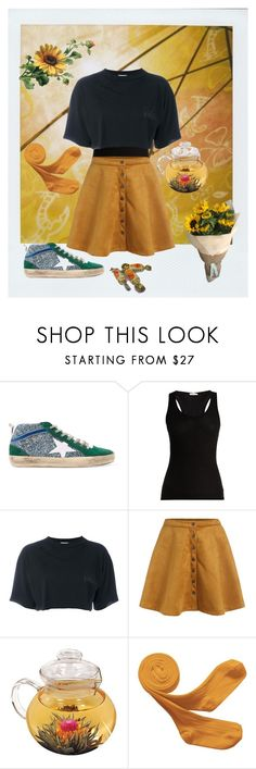 """child"" by dance4ever1222 ❤ liked on Polyvore featuring Golden Goose, Skin, Aries and MIEL"