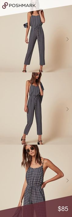 Reformation Mena jumpsuit size M Reformation Mena jumpsuit, size M. Condition is very good, fabric crinkled. No trades please Reformation Other