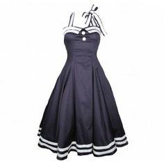 Hell Bunny SIREN Sailor Vintage Anchor Anker Swing DRESS Kleid Rockabilly