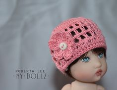 Crocheted Poppy Kish hat.
