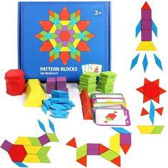 Tangram din lemn 155 piese cu sabloane incluse Card Patterns, Quilt Block Patterns, Pattern Blocks, Tangram Puzzles, Wooden Jigsaw Puzzles, Puzzles Für Kinder, Puzzles For Kids, Big Block Quilts, Quilt Blocks