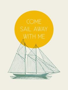 """Come Sail With Me"" canvas wall art by Cory McBee for Oopsy Daisy, Fine Art for Kids"