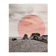 Modern Desert Print (€16) ❤ liked on Polyvore featuring home, home decor, wall art, landscape, pictures, modern wall art, landscape wall art, mod home decor, modern home accessories and modern home decor