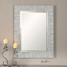 Found it at AllModern - Rectangle Wood Mirror