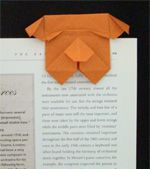 Any piece of paper slipped between two pages would do as a bookmark, but origami bookmarks can be stylish and distinguish you apart from the rest. These origami bookmarks are cleverly folded pieces of paper which can be slipped onto the corner of a page.
