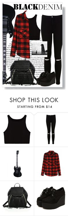 """Rock n Roll"" by strawberr-y ❤ liked on Polyvore featuring Miss Selfridge and Rebecca Minkoff"
