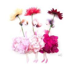 Фото: Рисунки из акварели и цветов (Фото)