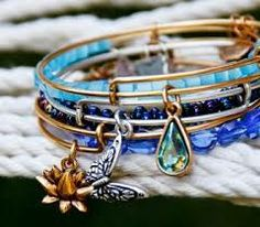 Start stacking Alex and Ani by adding beaded bracelets for a pop of color.