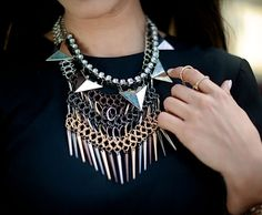 we can't think of anyone better than Courtney Kerr herself to layer these necklaces from her collection as our guest bartender