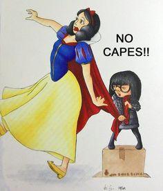 """""""No Capes."""" Edna decrees."""