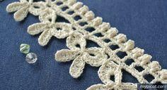 Crochet Bow Edging, MyPicot | Free crochet patterns
