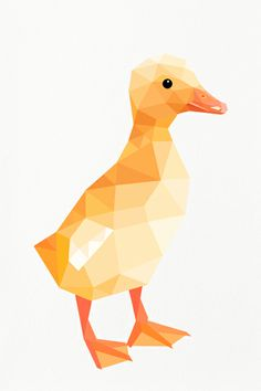 Little yellow duckling print, perfect for the nursery wall. https://www.etsy.com/nz/listing/154965955/duckling-baby-duck-yellow-geometric