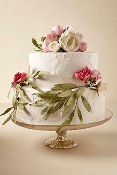 Rose Spring Blooms Cake Decoration (2) | BHLDN