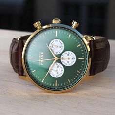 809bb4042a4 One of our popular chronographs - the Montpellier green.⌚   grandfrankwatches www.