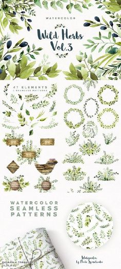 Watercolor Wild Herbs vol.3 1255923