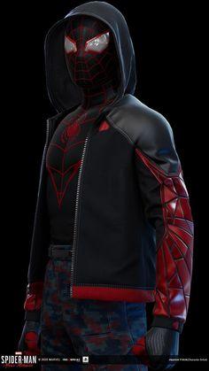 Spiderman Suits, Black Spiderman, Spiderman Art, Amazing Spiderman, Marvel Comic Character, Marvel Characters, Marvel Heroes, Marvel Dc, Spaider Man