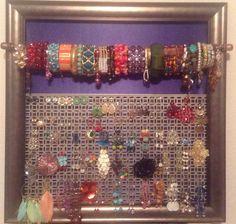 Jewelry Art! Earring & Bracelet holder