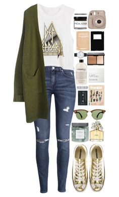 """More Than Words"" by ellac9914 ❤ liked on Polyvore featuring H&M, Converse, Threshold, Ray-Ban, philosophy, NARS Cosmetics, Marc Jacobs, Fig+Yarrow, Barry M and Elwood"