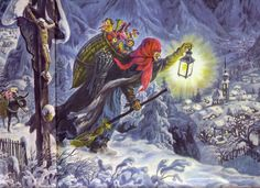 In Italian folklore, Befana is an old woman who delivers gifts to children throughout Italy on Epiphany Eve (the night of January 5) in a similar way to St Nicholas or Santa Claus. But children get gifts from both Father Christmas and Befana.