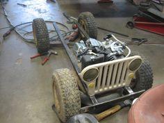 Amazing Mini GoCart WWII Military Willys Jeep Replica | Offroaders.com