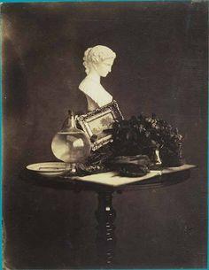 """Jules Boitouzet (1822- ?)  Nature morte vers 1854 in """"Etudes variées"""" vers 1854 Tirage sur papier salé d'après négatif sur verre au collodion BnF (Bibliothèque nationale de France), Paris"""
