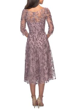 Mother Of Bride Outfits, Mother Of Groom Dresses, Mothers Dresses, Mother Of The Bride, Bride Dresses, Wedding Dresses, Bridesmaid Dresses, Lace Tea Length Dress, Tea Length Dresses
