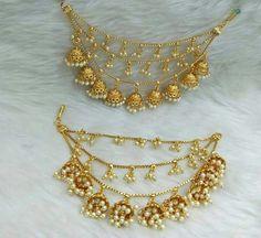 Handmade Jewellery by Afghan Artisians 1 Gram Gold Jewellery, Temple Jewellery, Gold Jewelry, Hair Jewellery, Fashion Jewellery, Fashion Earrings, Gold Necklace, Keep Jewelry, Fine Jewelry