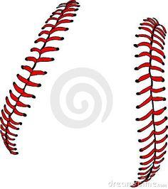 Vector Baseball Or Softball Laces Stock Vector - Illustration of soft, fastpitch: 10738040 Baseball Mom, Softball, Baseball Stuff, Time Tattoos, Tattoos For Guys, Cricut Tutorials, Cricut Ideas, Picture Layouts, Spirit Shirts