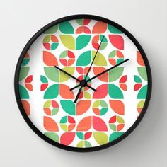 Vintage Summer Pattern Wall Clock by VessDSign - $30.00