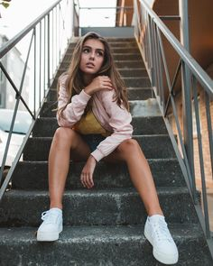 "1,866 Likes, 29 Comments - Paige Bonvallet (@paigebonvallet) on Instagram: ""I don't like stairs because they're always up to something :/ @dannyfedoruk"""