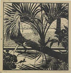 """Pattern"" 1936 Linocut by Australian Printmaker Vera Blackburn"