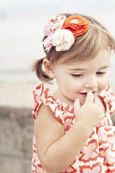 Tutorial for little girl's headband and ruffle sleeve dress