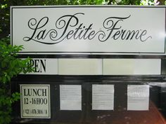 Little french restaurant in Franschhoek, where Hugenots came to a few hundred years ago.
