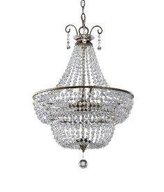 Burnished Silver - Mid. Chandeliers Candle Murray Feiss   LIGHT`N UP!