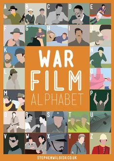 The War Film Alphabet is the latest movie quiz poster by graphic designer Stephen Wildish in his ongoing series. This one challenges your war movie Film Quiz, Funny Celebrity Pics, P Alphabet, Alphabet Posters, Cinema Tv, War Film, Movie Facts, Film Facts, Movies Worth Watching