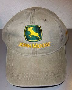 John Moose Alaska Embroidered Hat , a play on John deer, great Alaska souvenir! Clicking on the view page link will take you to our eBay store listing for this hat.  When you click on the following link, it will take you to our Way Up In Alaska Clothing page :  http://www.wayupinalaska.com/Clothing.html
