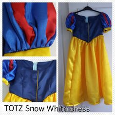 Snow White dress – Life in a Red Dress Princess Fancy Dress, Snow White Dresses, Costume Tutorial, Princess Costumes, Costume Dress, Vintage Prints, Upcycle, Gym Shorts Womens, Dress Up