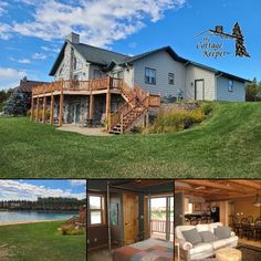 The Cottage Keeper's Celtic Lodge on Castle Rock Lake offers upscale accommodations for groups of up to 11 — open year-round near excellent restaurants, shopping, golf, bike trails and more! #itscabintime #bookdirect #wisconsinlakes
