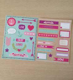 Set of 2 sticker sheets ST06 by LadyendeVagehond on Etsy