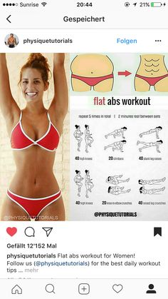 Pin on Rutinas de ejercicio Flat Abs Workout, Gym Workout Tips, Waist Workout, At Home Workout Plan, Easy Workouts, Workout Challenge, Workout Videos, At Home Workouts, Fitness Workouts