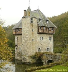 Carondelet Castle near the village of Crupet, north of the city of Dinant, in the province of Namur, in the Wallonia region in Belgium.