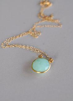 Chrysophase Necklace Chrysoprase Necklace Gemstone by maldemer