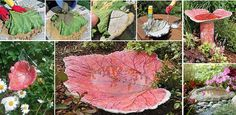 How To Make A Stand Cast Birdbath in Leaf Shape | Our Daily Ideas