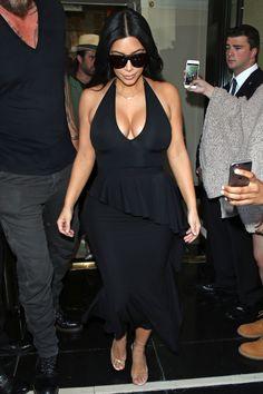 Kim Kardashian leaves the Dorchester Hotel in London on June 26, 2015.   - Cosmopolitan.com